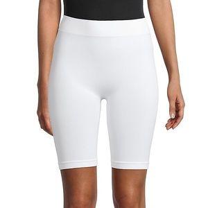 NWT  White Biker Shorts